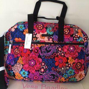Vera Bradley Floral Fiesta Medium TRAVELER Travel